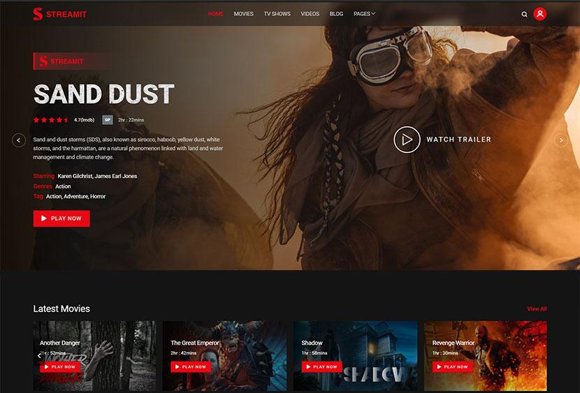 Streamit  Video Streaming WordPress Theme + RTL
