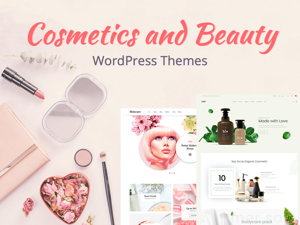 Cosmetics and Beauty WordPress Themes with Fresh and Modern Designs