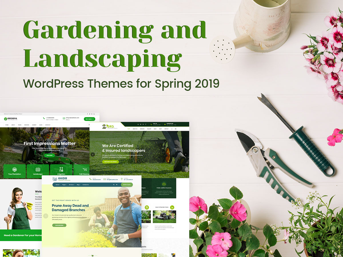 Gardening and Landscaping WordPress Themes for Spring 2019