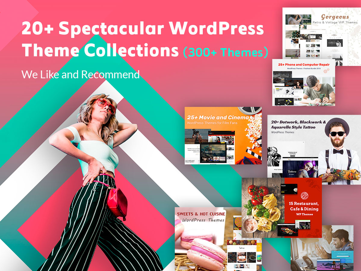 20 Spectacular WordPress Theme Collections We Like and Recommend