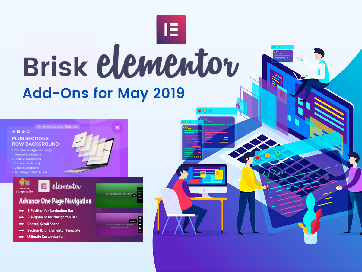 Brisk Elementor Add-Ons for May 2019