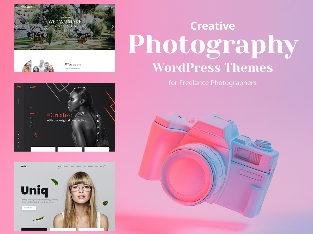 Creative Photography WordPress Themes for Freelance Photographers
