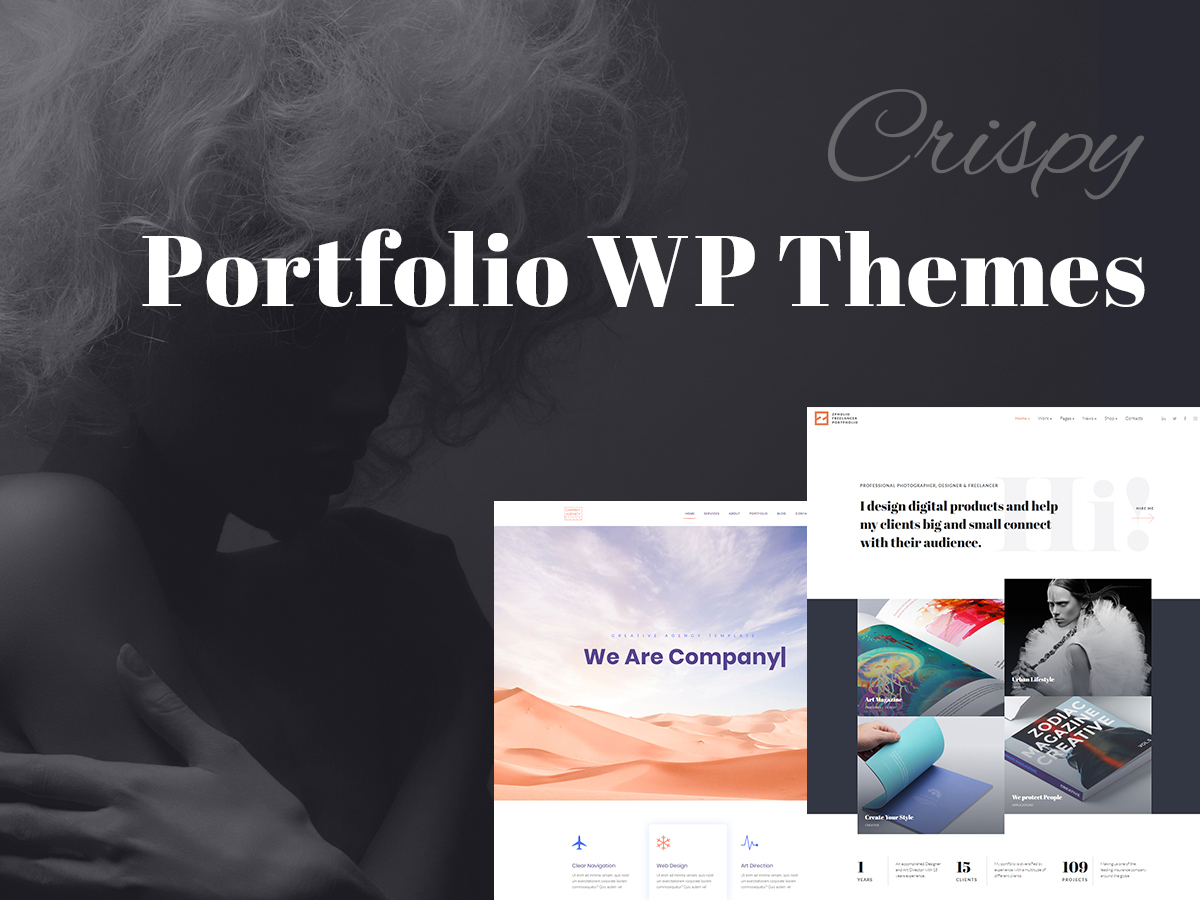 Crispy Portfolio WordPress Themes for Freelancers and Agencies