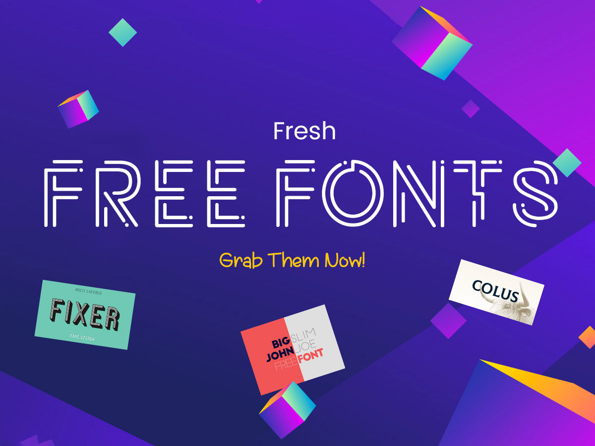 Fresh Free Fonts for Spring - Grab Them Now!
