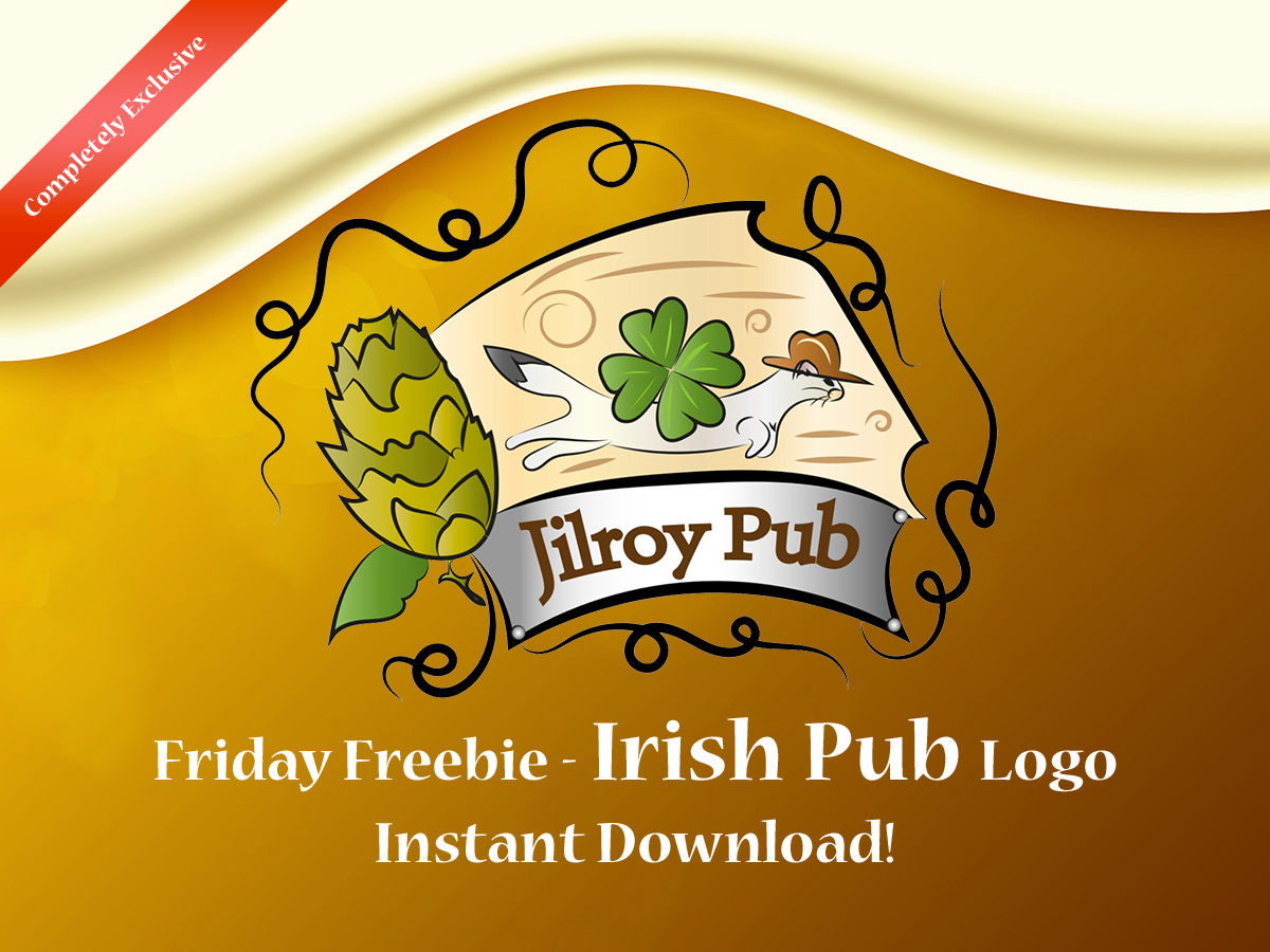 Friday Freebie - Irish Pub Logo Instant Download!