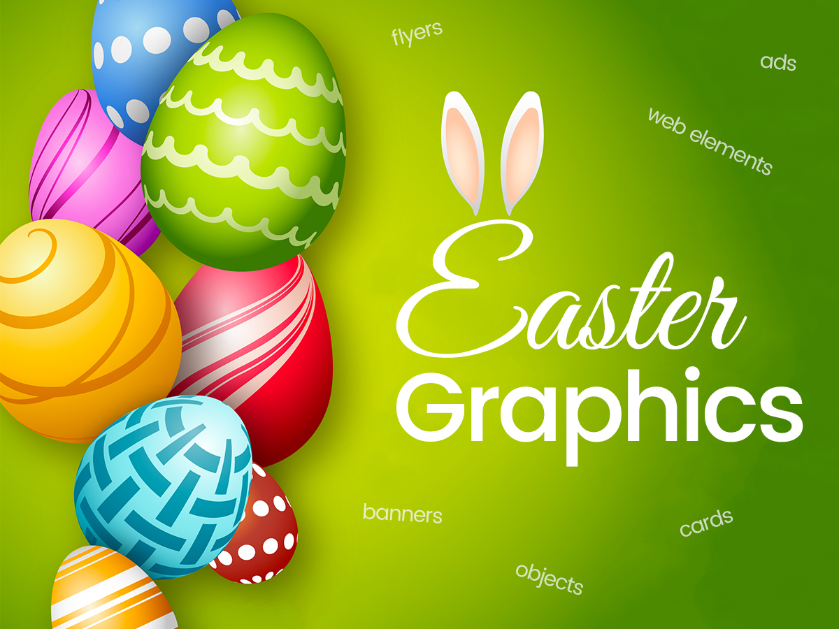 Modern Easter Graphics for the Upcoming Holiday