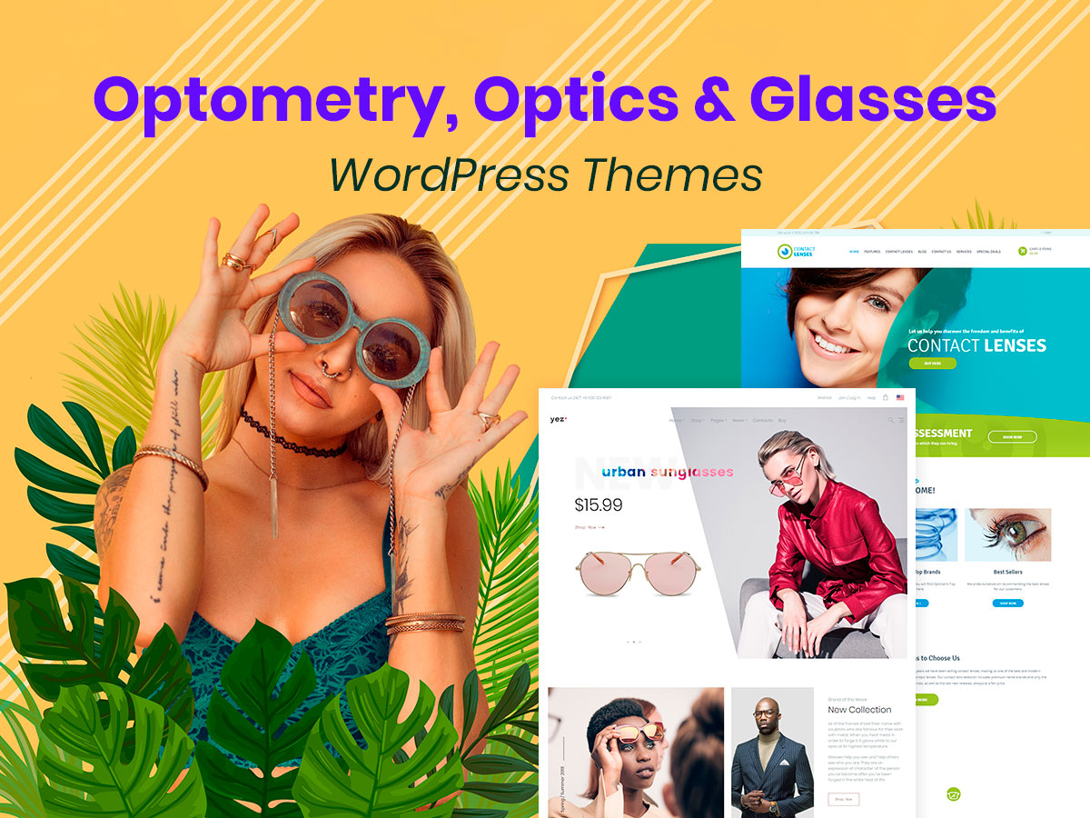 Optometry, Optics and Glasses WordPress Themes for Your Perfect Vision