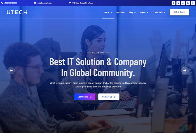 uTech - IT Solution And Technology WordPress Theme