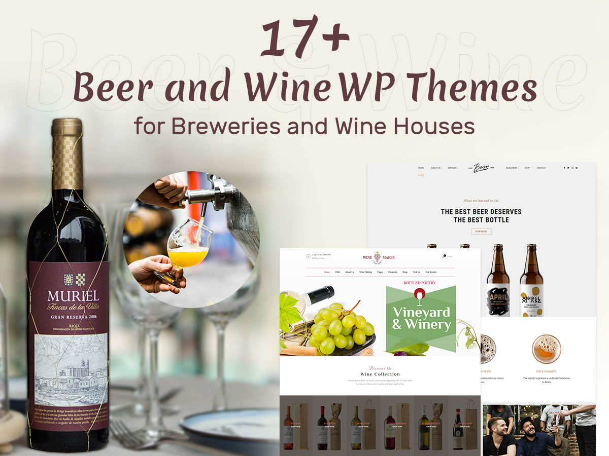 17+ Beer and Wine WordPress Themes for Breweries and Wine Houses