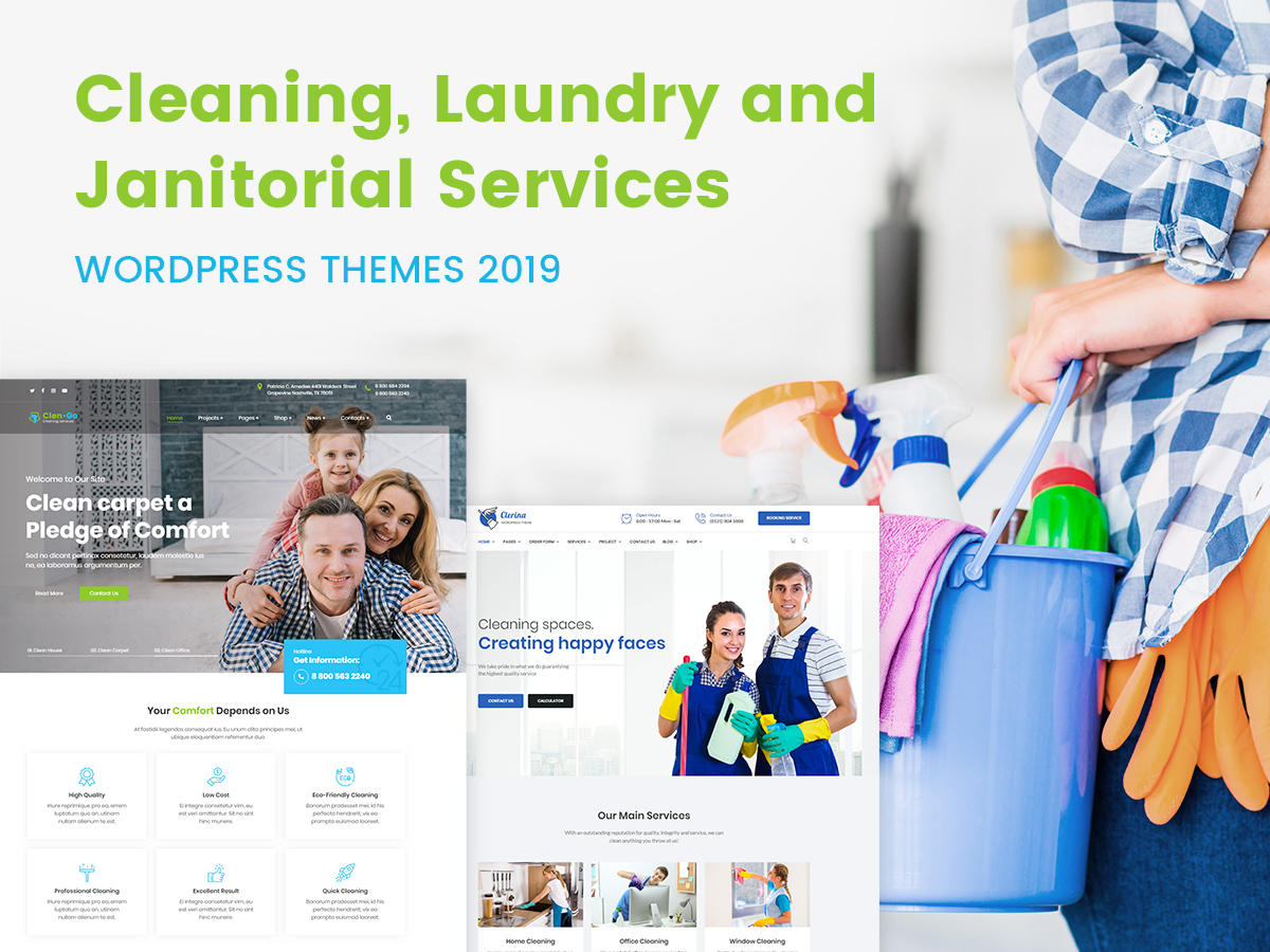 Cleaning, Laundry and Janitorial Services WordPress Themes 2019