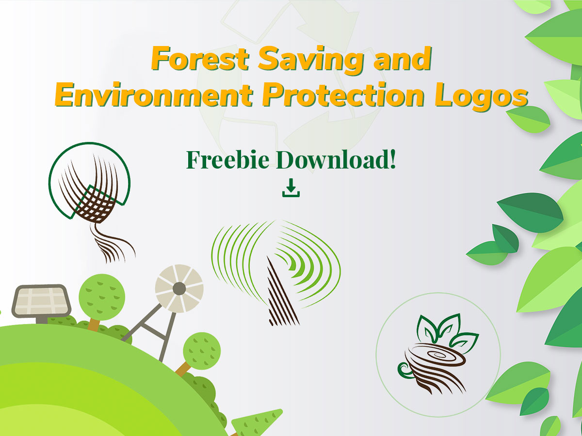 Forest Saving and Environment Protection Logos Freebie