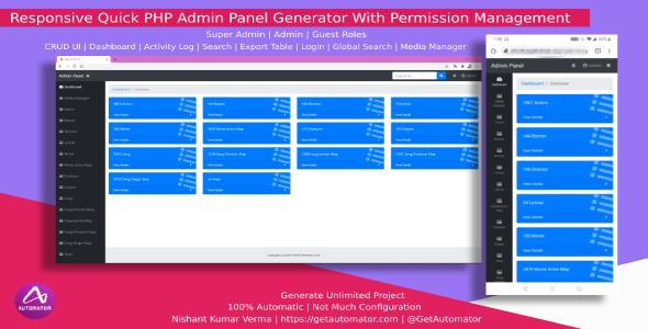 [MacOS] Responsive PHP Admin Panel Generator