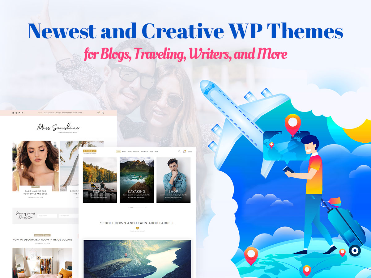 Newest and Creative WordPress Themes for Blogs, Traveling, Writers, and More
