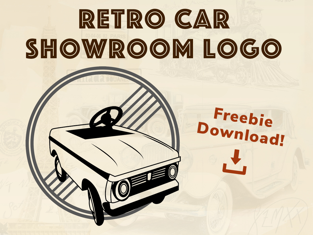 Retro Car Showroom Logo - Freebie Download!