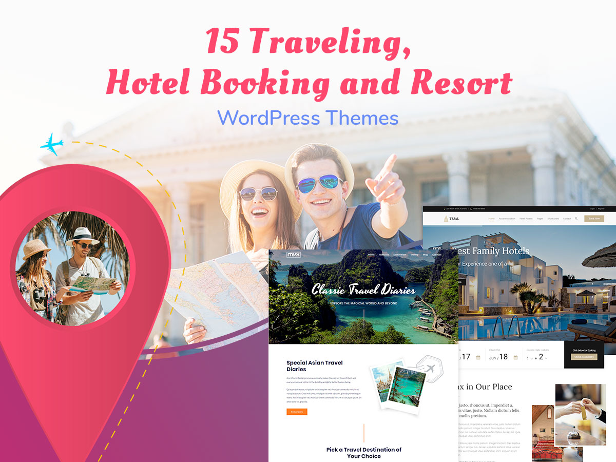 15 Traveling, Hotel Booking and Resort WordPress Themes for Summer Vacations