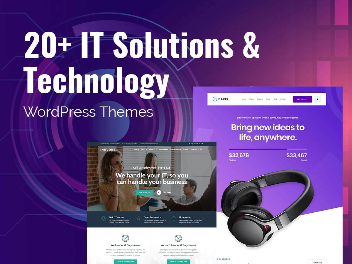 20+ IT Solutions and Technology WordPress Themes for Your Tech Startups