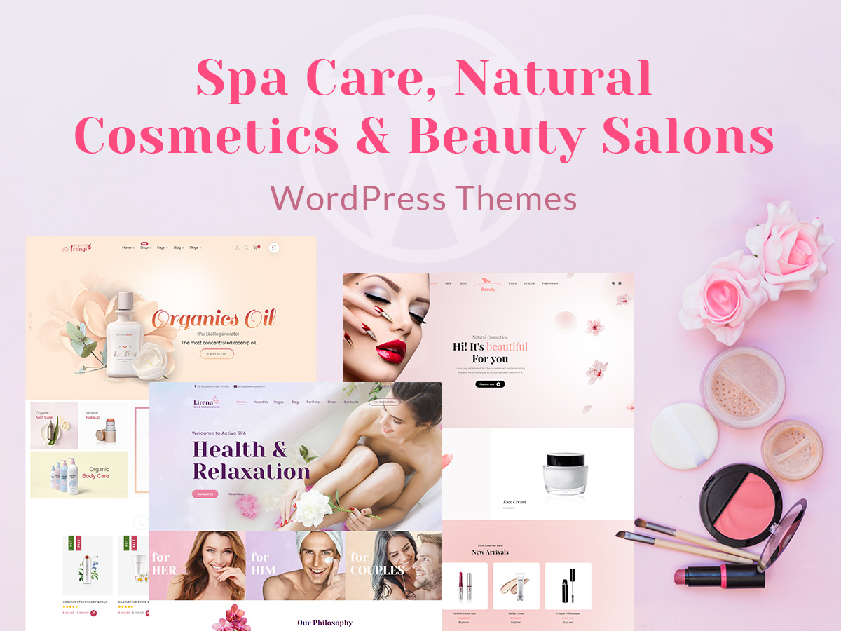 5 Spa Care, Natural Cosmetics and Beauty Salons WordPress Themes for Your Inner Harmony