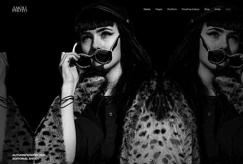 Amoli - Fashion Photography Theme
