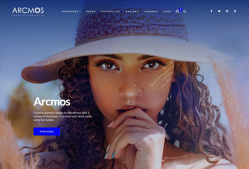 Arcmos - Creative Portfolio Theme for WordPress