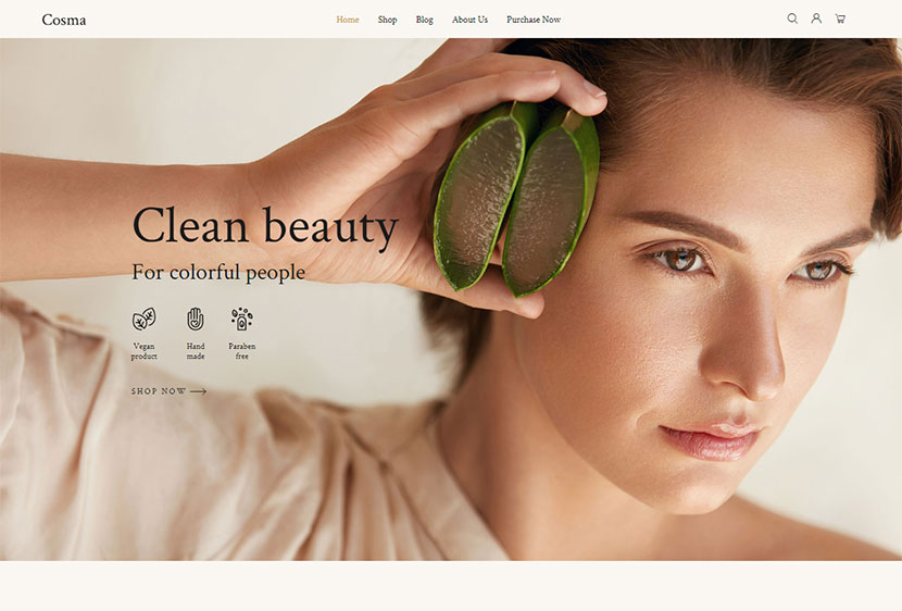 Cosma - Beauty and Cosmetics Shop WP Theme