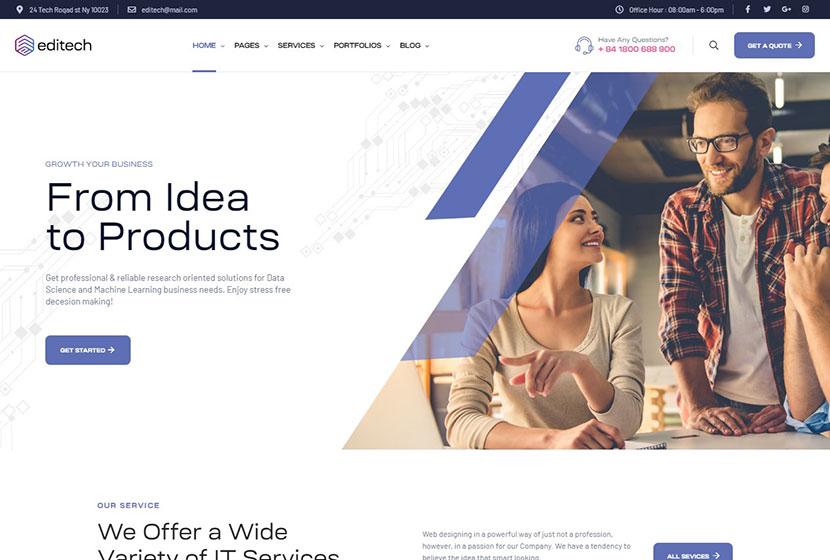 Editech - Corporate, Finance, IT Solution & Business WordPress Theme