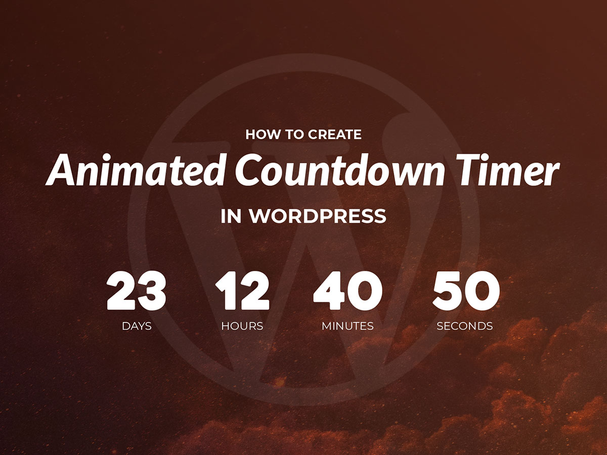 How to Create Animated Countdown Timer in WordPress