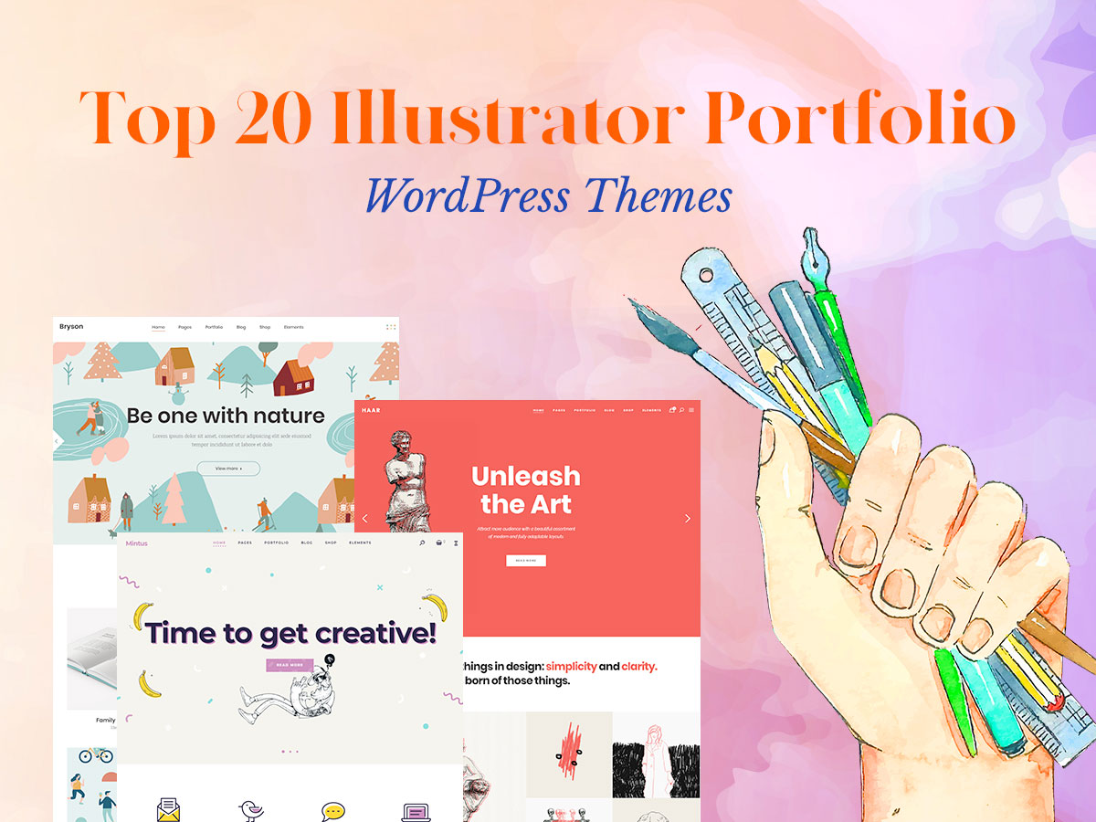 Top 20 Illustrator Portfolio WordPress Themes