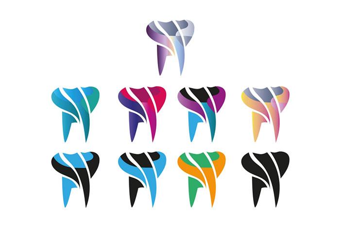 Dental Care Free Logo in 9 Color Skins - Freebie Download