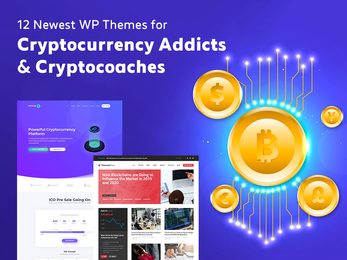 12 Newest WordPress Themes for Cryptocurrency Addicts and Cryptocoaches
