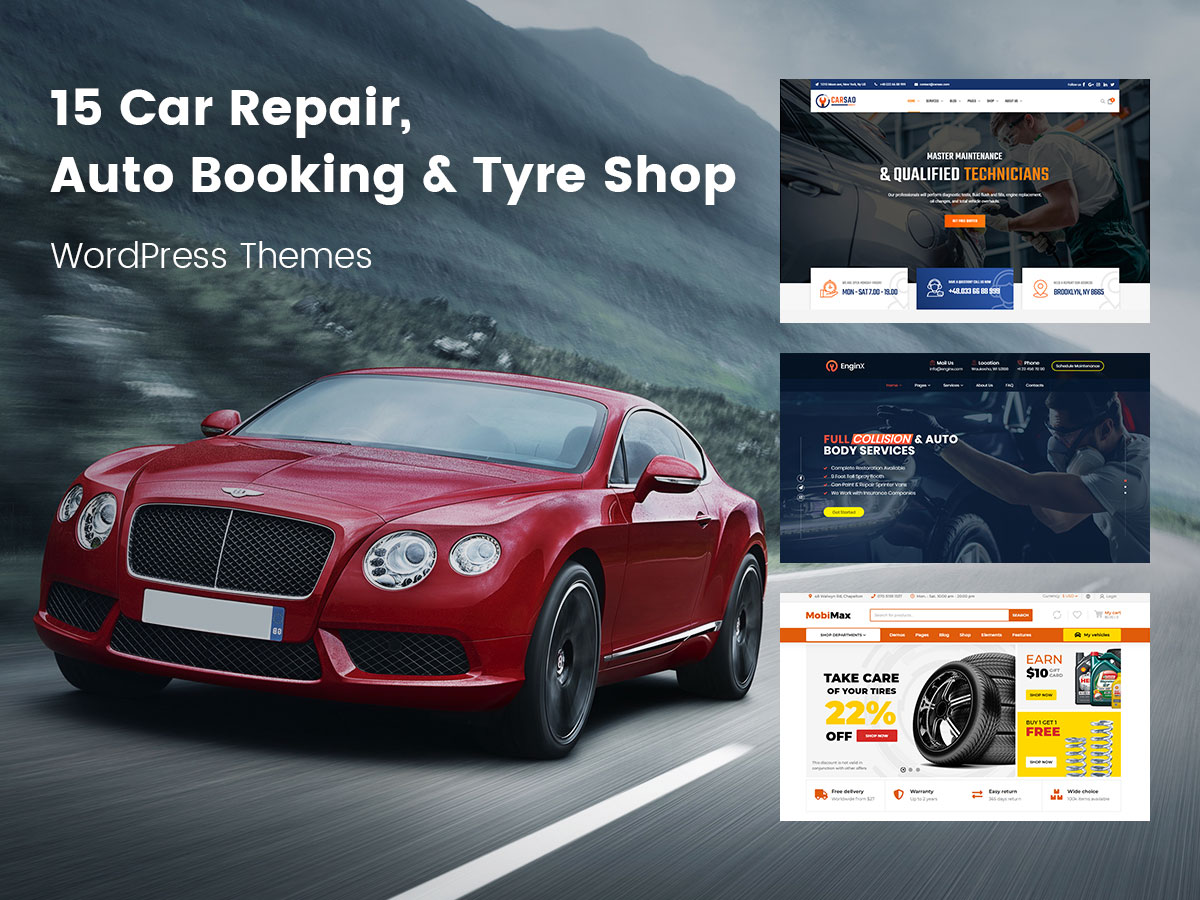 15 Car Repair, Auto Booking and Tyre Shop WordPress Themes for Auto Mechanics and Car Repairs