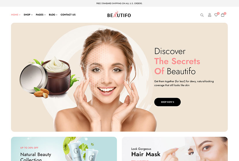 Beautifo - Beauty WooCommerce WordPress Theme