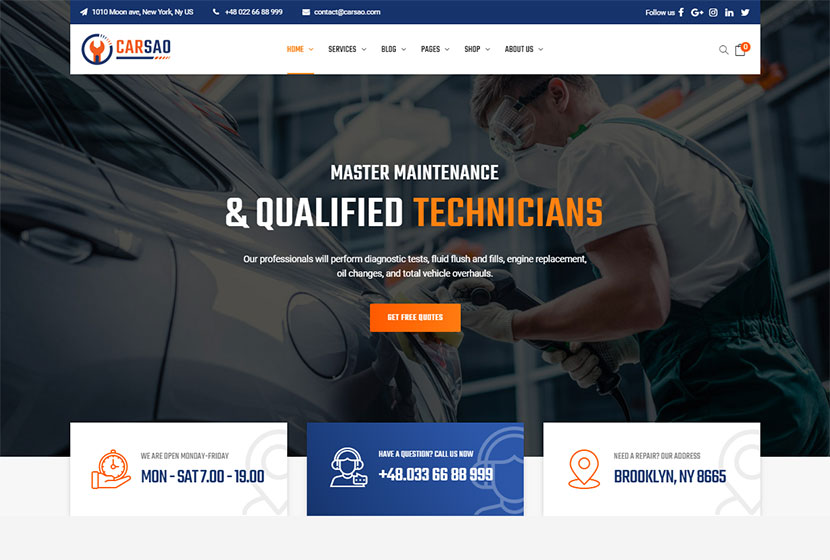 15 Car Repair Auto Booking And Tyre Shop Wp Themes Wp Daddy