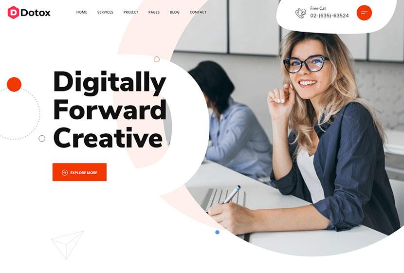 Dotox - Multipurpose Creative Agency WordPess Theme
