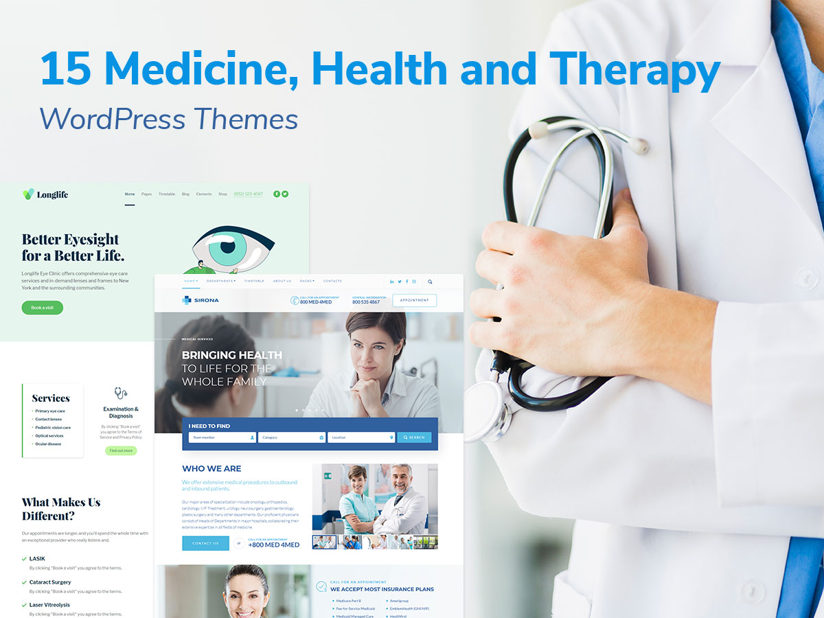 15 Medicine, Health and Therapy WordPress Themes for Private Medical Practice and Clinics