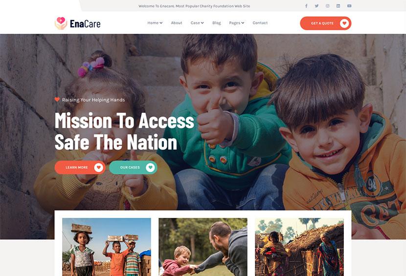 Enacare - NonProfit & Charity Foundation WordPress Theme