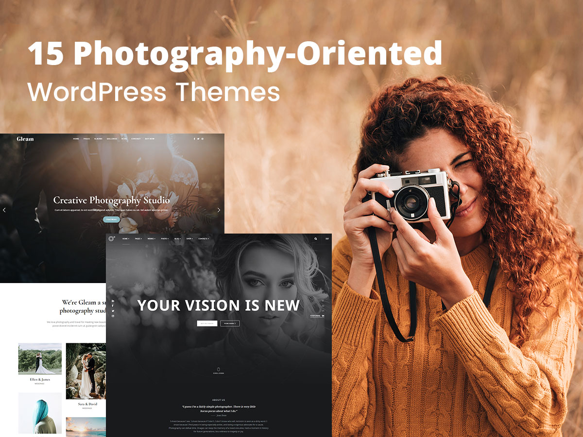 15 Photography-Oriented WordPress Themes for Studios and Creative Individuals