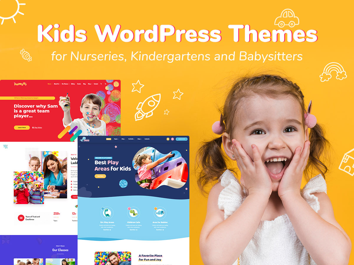 Kids WordPress Themes for Nurseries, Kindergartens and Babysitters