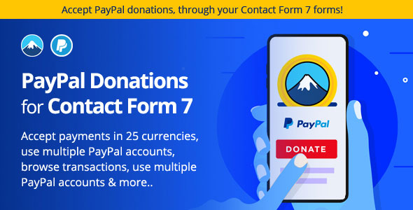 PayPal Donation plugin for Contact Form 7