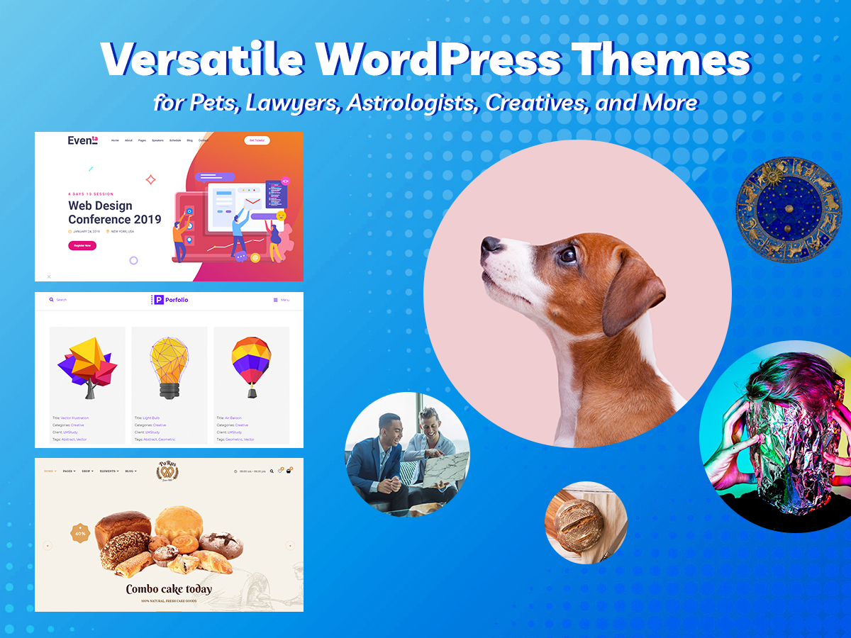 Versatile WordPress Themes for Pets, Lawyers, Astrologists, Creatives, and More