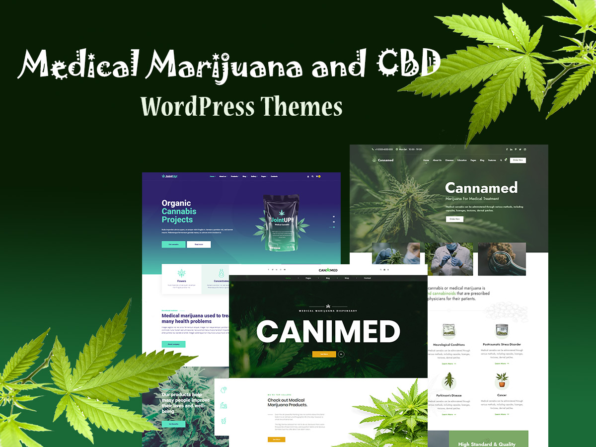 Medical Marijuana and CBD WordPress Themes