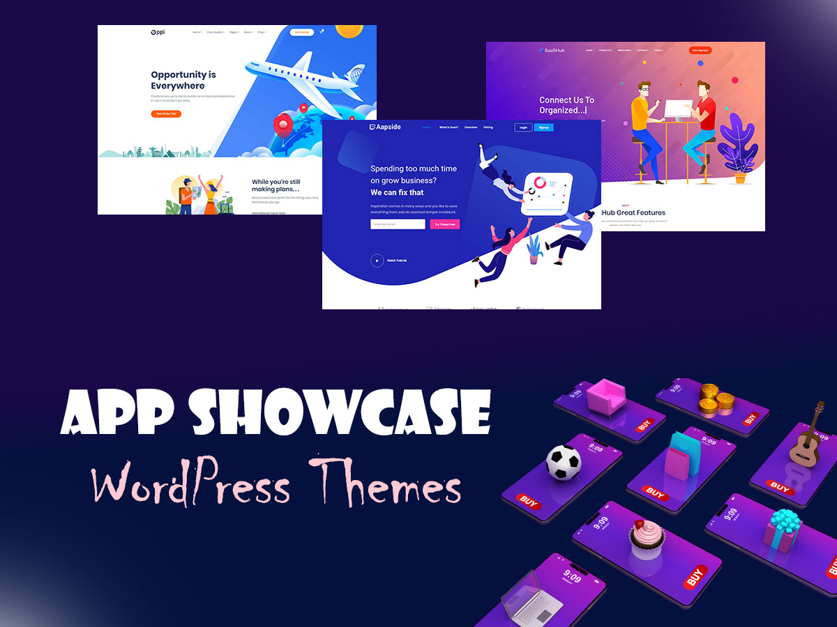App Showcase WordPress Themes for Your Perfect App Landings