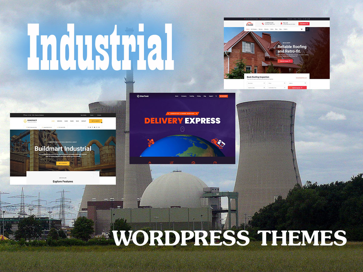 Industrial WordPress Themes for Factories and Plants