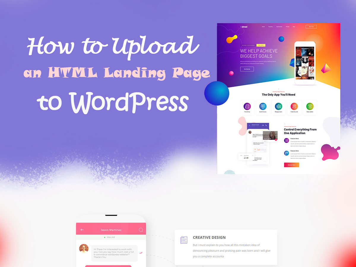 How-to-Upload-HTML--Landing-Page-to-WordPress