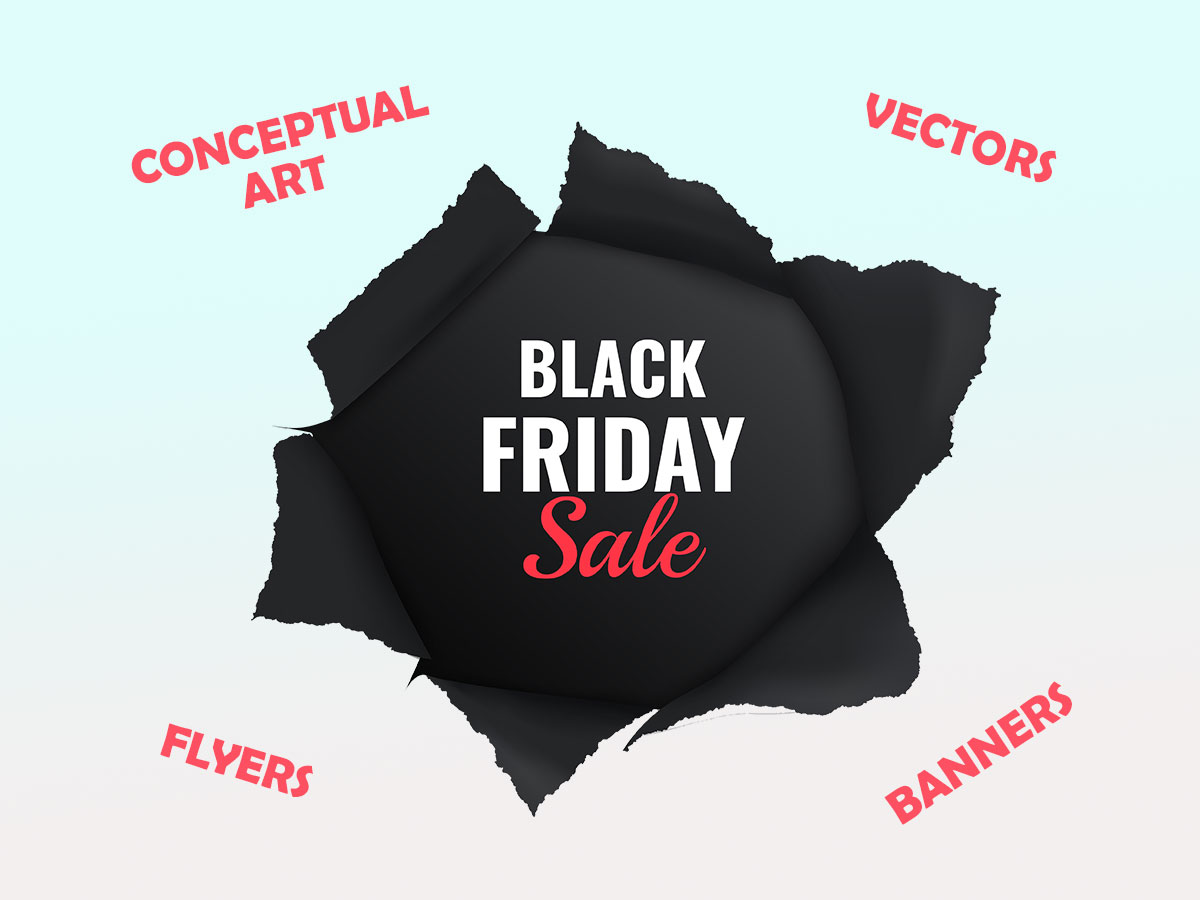 Black Friday Flyers, Banners, Conceptual Art, Vectors, and more