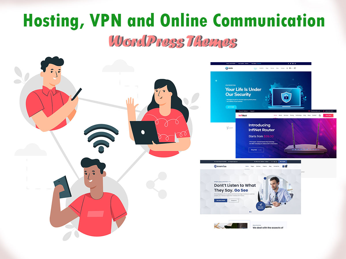 Hosting,-VPN-Online-Communication-WordPress-Themes