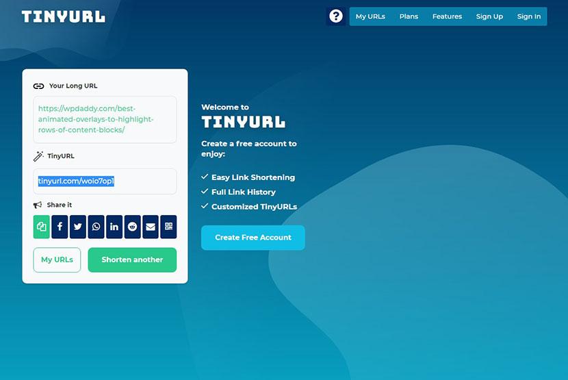 tinyurl app