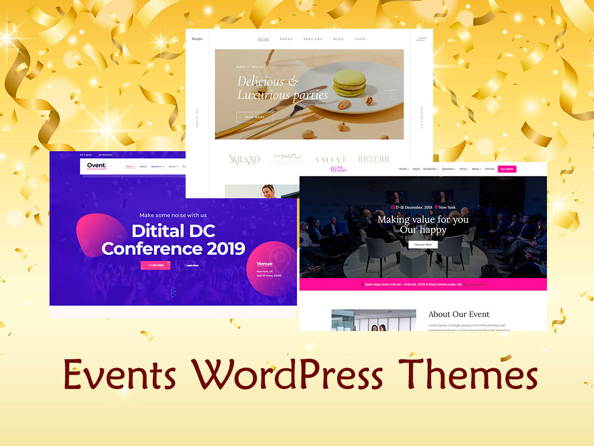 Events and Entertainment WordPress Themes