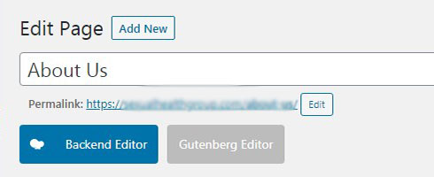 backend editor button wpbakery