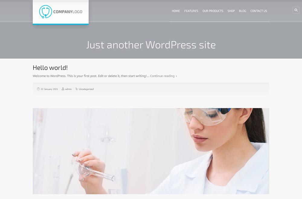 default homepage latest posts