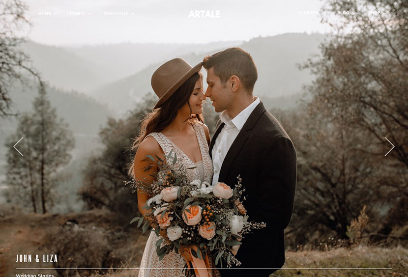 Artale Wedding Photography WordPress Theme